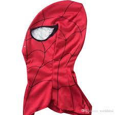 halloween spider man face mask cotton spiderman hood kids adults u0027s