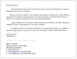 sample thank you letter after interview engineer mediafoxstudio com