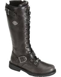 womens boots motorcycle harley davidson s 13 lace up motorcycle boots boot barn