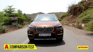 bmw x1 vs audi q3 bmw x1 vs audi q3 comparison test autocar india youtube