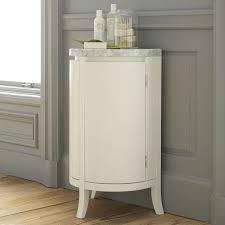 White Corner Cabinet Bathroom Demilune Bath Cabinet