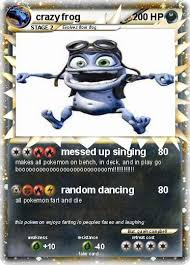 crazy frog coloring page pokémon crazy frog 75 75 messed up singing my pokemon card