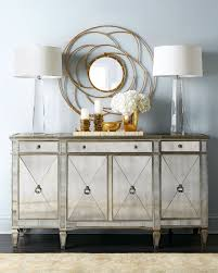 Mirrored Desks Furniture Furniture Mirrored Buffet With Gorgeous And Antique Design