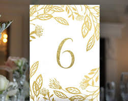 Wedding Table Numbers Ideas Table Number Ideas Etsy