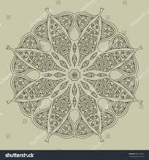 mandala design hand drawn oriental elements stock vector 487135324