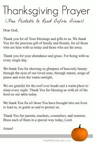 thanksgiving prayer free printable to read before dinner