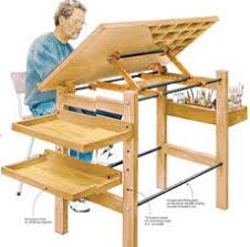 Drafting Table Blueprints Really Handy Basic Work Station With Canvas And Sketchpad Storage