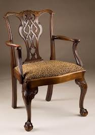 mahogany chippendale armchair