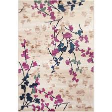 Pink Area Rug 5x8 World Rug Gallery Contemporary Floral 5 Ft 3 In X 7 Ft 3