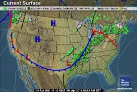 weather fronts map cold and warm fronts mrs wenger