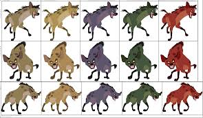 tlk hyenas color references patchi1995 deviantart