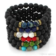 mens black bead bracelet images 2018 natural stone bead bracelets mens beads bracelet charms jpg