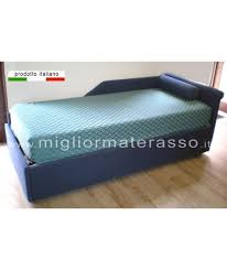 letto estraibile divano letto con letto estraibile singolo per materasso e rete da 80
