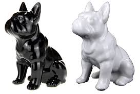 retro ceramic bulldog sitting ornament decoration