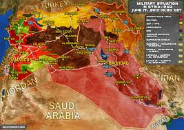Where Is Syria On A Map by Situation In Syria And Iraq On June 19 2017 Map Update