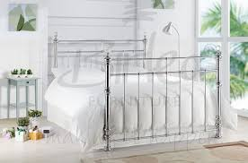 birlea georgina 4ft6 double chrome metal bed frame with crystals