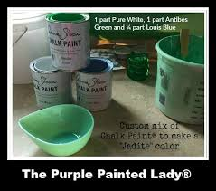 the purple painted lady chalk paint custom jadite recipe