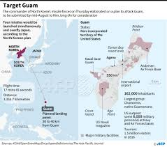 Map Of Guam Afp Graphic On The Detailed North Korea Plan To Target The Area