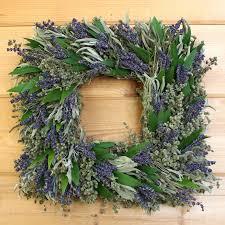 herb wreath square lavender herb wreath marjoram bay by creekside farms