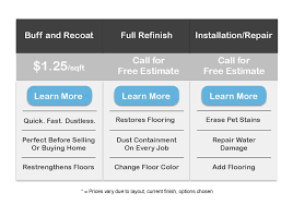 pricing this is our pricing to our hardwood floor services