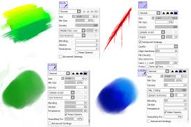 my paint tool sai brush settings by chaoticfluffball on deviantart