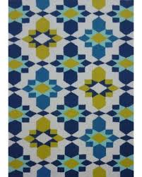 Geometric Outdoor Rug Check Out These Bargains On Blue Geometric Outdoor Rug 5 X 7