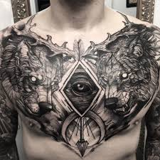 shoulder to chest tattoo tattoo eye wolf chest tattoo tattoo for men animals wild