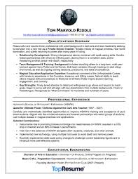summary of qualifications on a resume nightmare resume makeovers topresume voldemort resume makeover