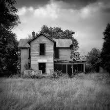 empty black u0026 white photograph print of an abandoned house