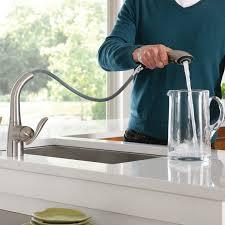 Kitchen Faucet Placement by Moen 7294srs Arbor One Handle High Arc Pullout Kitchen Faucet