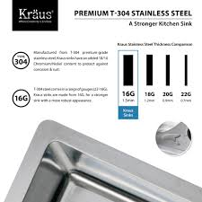 Compare Kitchen Faucets Stainless Steel Kitchen Sink Combination Kraususa Com