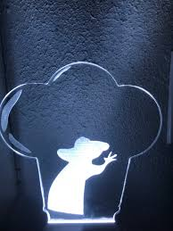ratatouille remy silhouette in chef u0027s hat night light