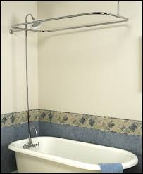 clawfoot tub add on shower kit gooseneck faucet rod you remodel