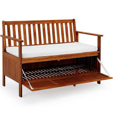 outdoor modern outdoor hardwood bench storage with cushion