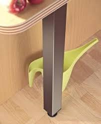 pied inox cuisine de snack fixe carré inox brossé dim 6x6cm 87cm ou 18mm