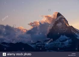 sunset alps switzerland valais matterhorn mountain scenery