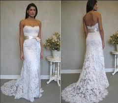 Summer Wedding Dresses Strapless Lace Summer Wedding Dress With Sash Sang Maestro