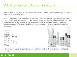Serum Herbalife building your outer nutrition business with skin care ppt