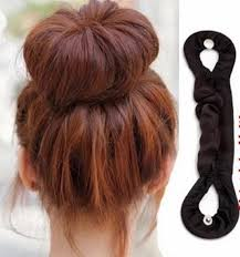 bun clip cloth wrapped hair donut bun clip hair twist holder diy hair