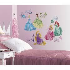disney princess peel u0026 stick wall decals with gems