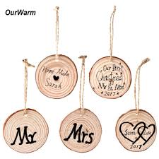 online shop ourwarm 50pcs our first christmas ornament wooden tree