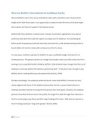 Sample Of Short Resume by Goldman Sachs Case Study
