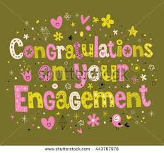Congratulations On Engagement Card Congratulations On Your Engagement Card Stock Vector 443767978