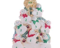 personalized family ornament snowman large family
