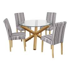 Glass Dining Sets 4 Chairs Glass Dining Table Set For 4 Dining Room Sustainablepals