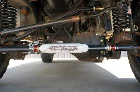 jeep steering stabilizer s stabilizers steering wj d30 two cylinder kit