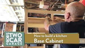 How To Build Kitchen Base Cabinets How To Build A Kitchen Base Cabinet Youtube