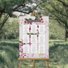Garden Botanicals Garden Botanicals And Florals Wedding Seating Plan Seating Chart