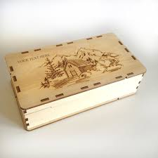 Personalized Wooden Boxes Wooden Box From Cedar 7 Laser Cut Wood Box Wooden Box