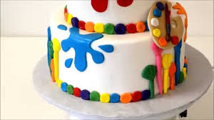theme cakes painting theme cake with color spots of paint